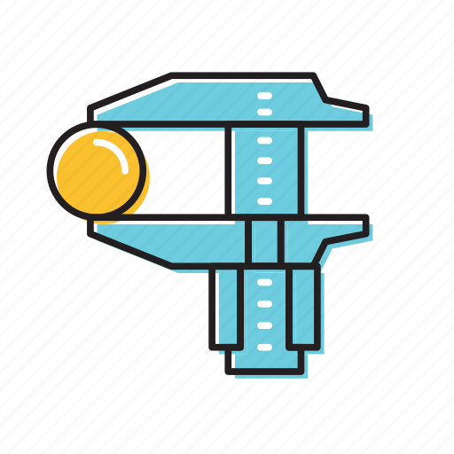 caliper, manual caliper, physics icon