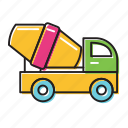 cement truck, trucks icon