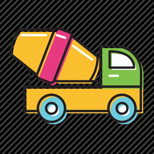 cement truck, trucks icon