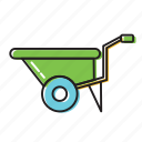 cart, construction, construction cart icon