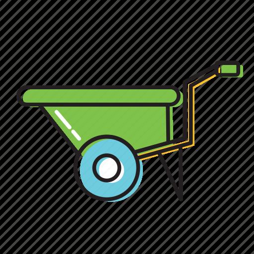 cart, construction, construction cart icon