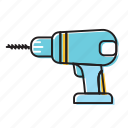driller, hand drill, machine driller, screw driller icon