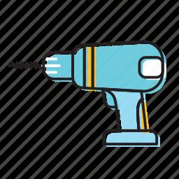 driller, hand drill, machine driller, screw driller icon