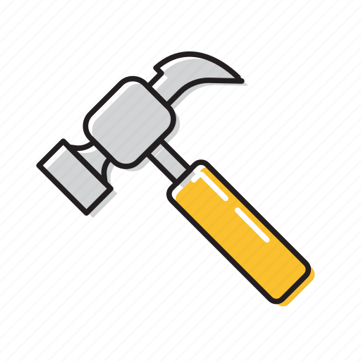 hammer, strong hammer icon