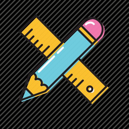 Construction ruler, measure, pencil ruler icon - Download on Iconfinder