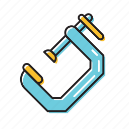 construction tool, screw measure, tool kit icon