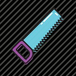 chain saw, hand saw, saw icon