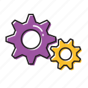 building, construction, settings icon