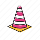 cones, danger cones, traffic, traffic cones icon