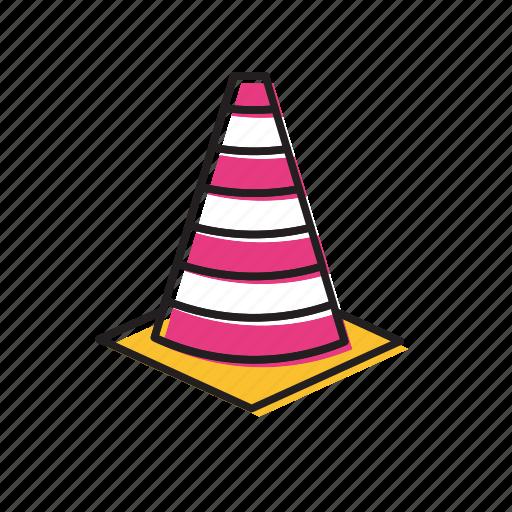 cones, danger cones, traffic, traffic cones icon
