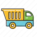 builder truck, construction truck, truck icon