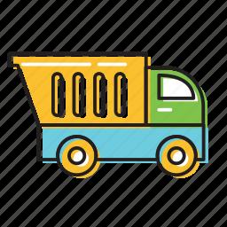 builder truck, construction truck, truck icon