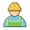 building employee, construction worker, worker