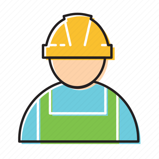 building employee, construction worker, worker icon