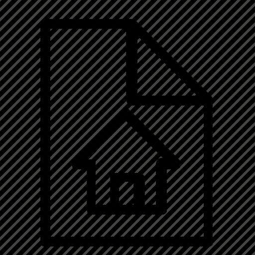 blueprint, document, home icon