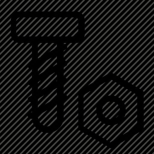 bolt, screw icon