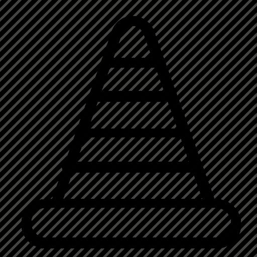 cone, road, street icon