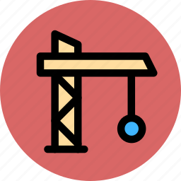 building, construction, estate, tower crane icon