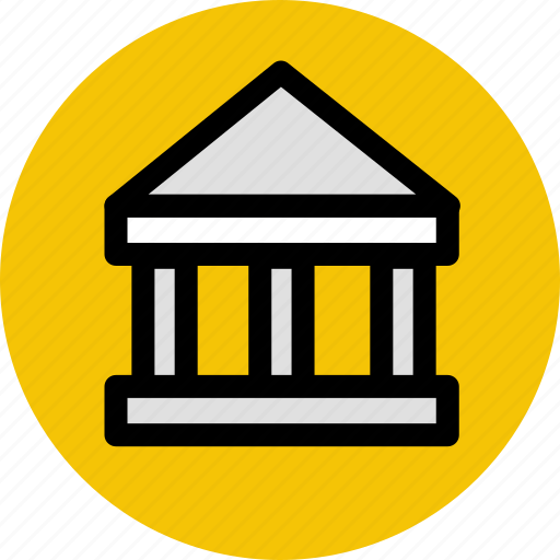 bank, construction, finance, house icon