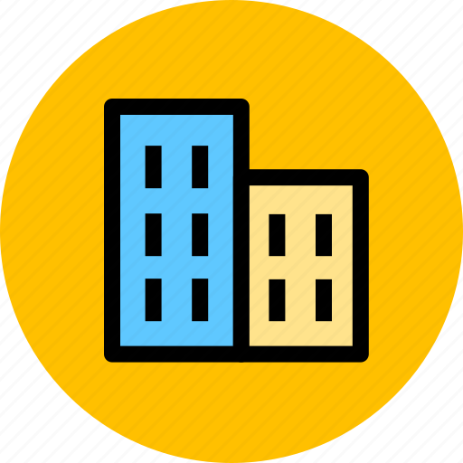 apartment, building, builds, city, estate, house, property icon