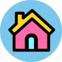 construction, estate, home, house icon