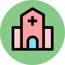 building, construction, hospital, house icon
