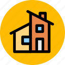 apartment, building, construction, estate, home, house, property icon
