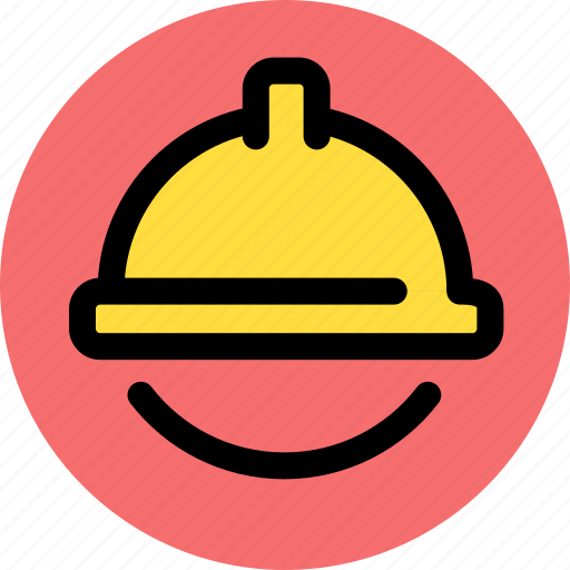building, construction, security hat icon