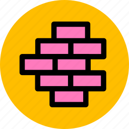 building, construction, firewall, wall icon