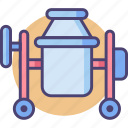 concrete, concrete mixer, construction, mixer icon