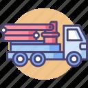 construction, crane, lifting crane, transport icon