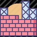 brick wall, concrete, construction, construction site, site icon