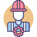 construction, engineer, engineering, worker icon