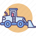 construction, front loader, transport icon