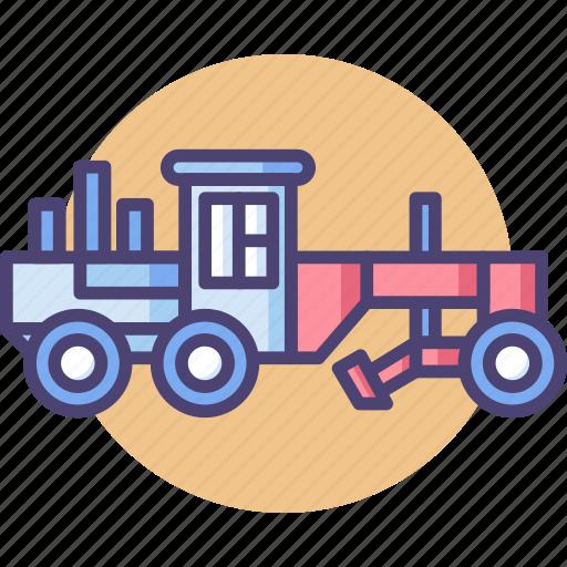 construction, grader, transport icon