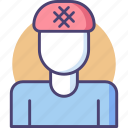 hairnet, shower cap icon