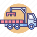 construction, manipulator, manipulator truck, transport, truck icon