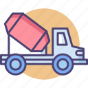 concrete mixer truck, construction, lorry, mixer, mixer truck, truck icon