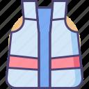 clothes, protective, protective clothes, protective vest icon
