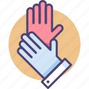 gloves, protective, protective gloves icon