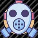 gas mask, mask, respirator, respirator mask icon