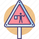 flagger, road, road flagger icon