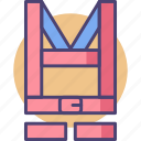harness, safety, safety harness icon