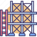 construction, scaffold, scaffolding icon