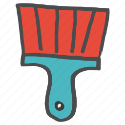 brush, construction, equipment, paint, painting, tool, work icon