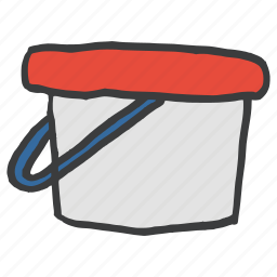 bucket, carry, fill, paint, painting, tool, utility icon