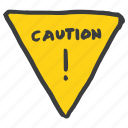 alert, attention, board, caution, danger, sign, warning icon
