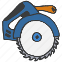 blade, carpentry, construction, equipment, repair, saw, tool icon