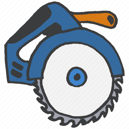 blade, carpentry, construction, equipment, repair, saw, tool icon