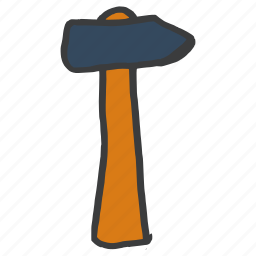 carpentry, construction, equipment, hammer, masonry, repair, tool icon